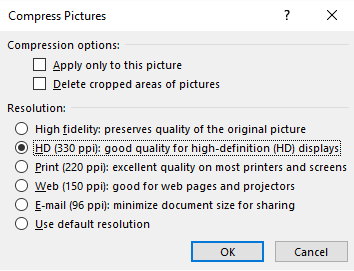 compress images in powerpoint