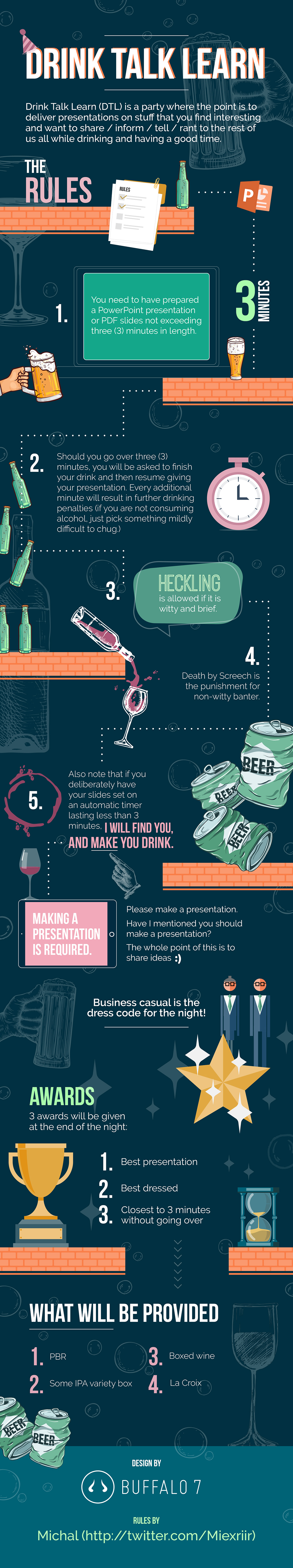Drink Talk Learn PowerPoint Presentation Infographic