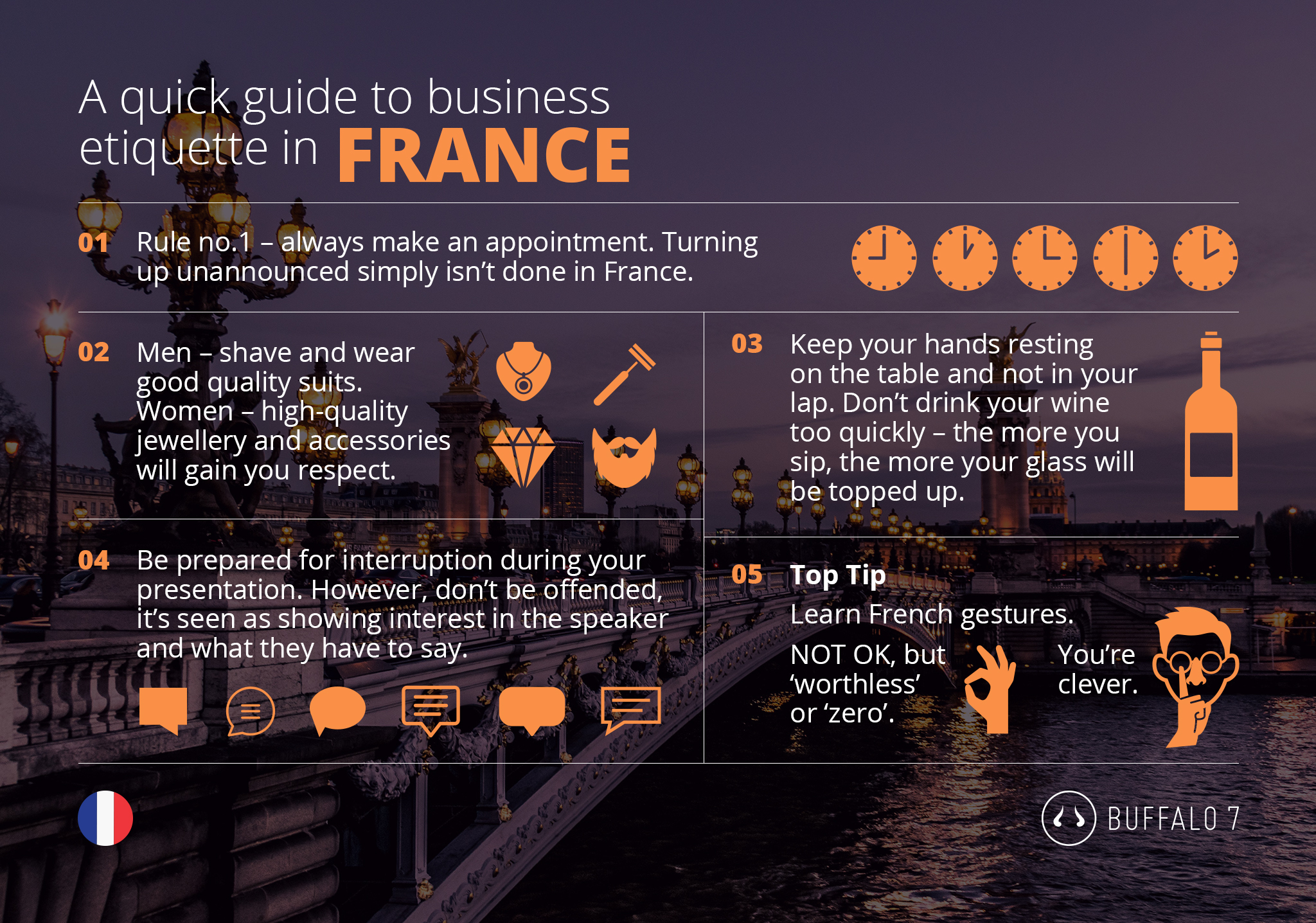 tips on french business etiquette