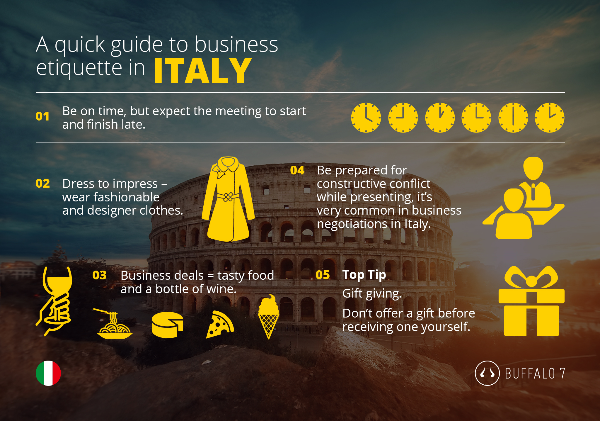 tips on italian business etiquette