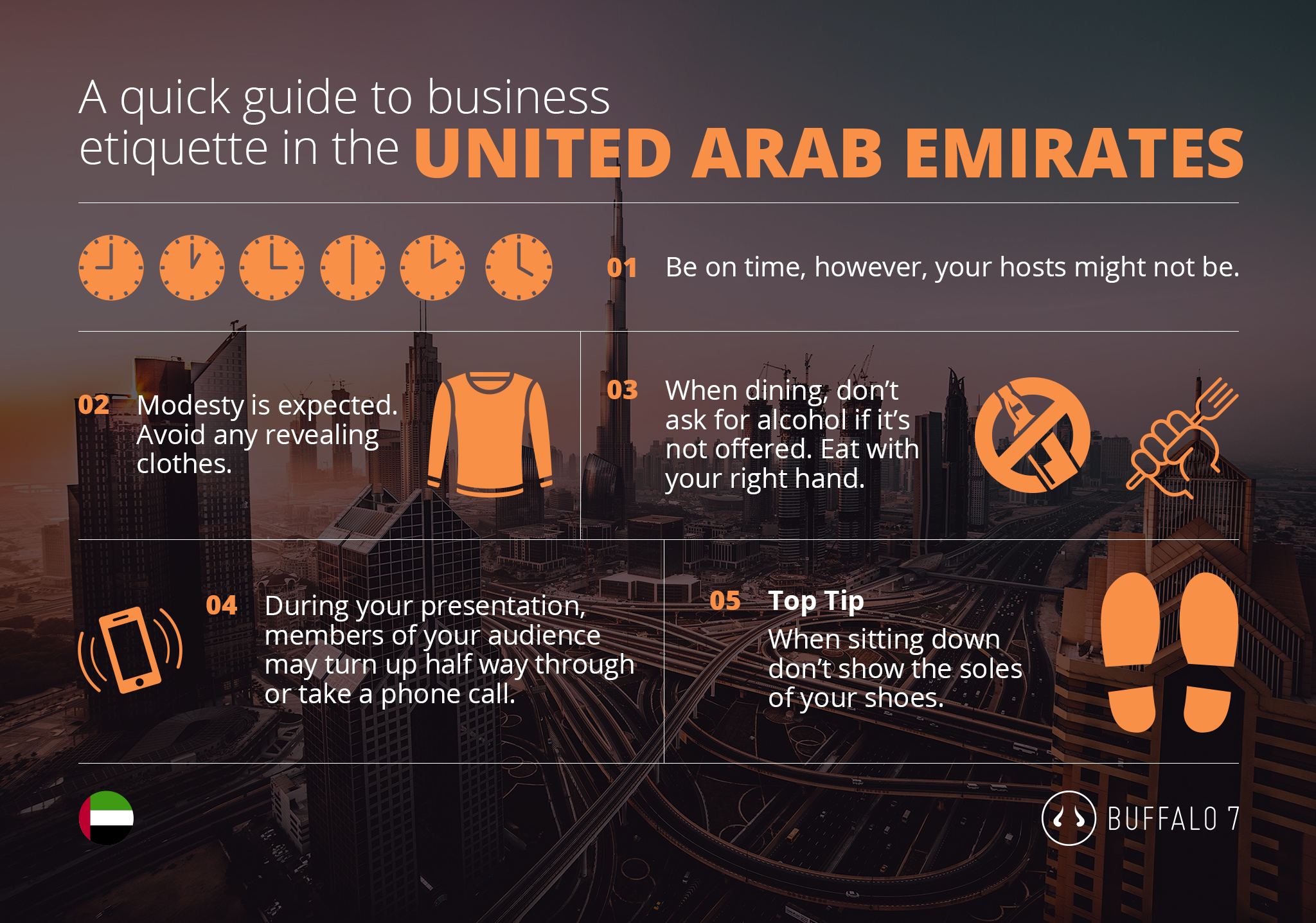 etiquette tips for business in the UAE
