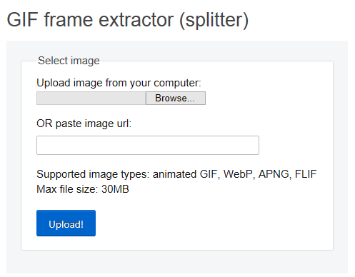 GIF frame extractor