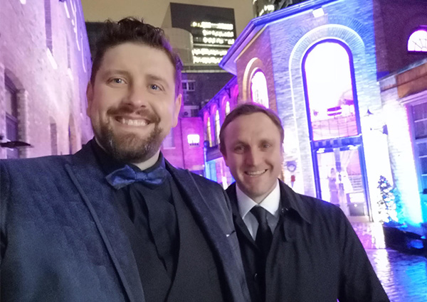 Chris and Gary arriving at the Growing Business Awards ceremony