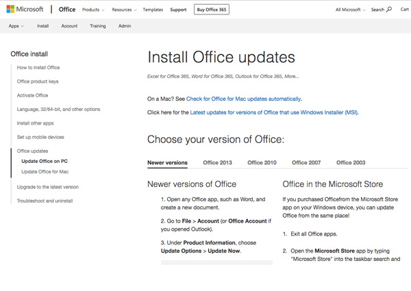 install Office updates if PowerPoint keeps crashing