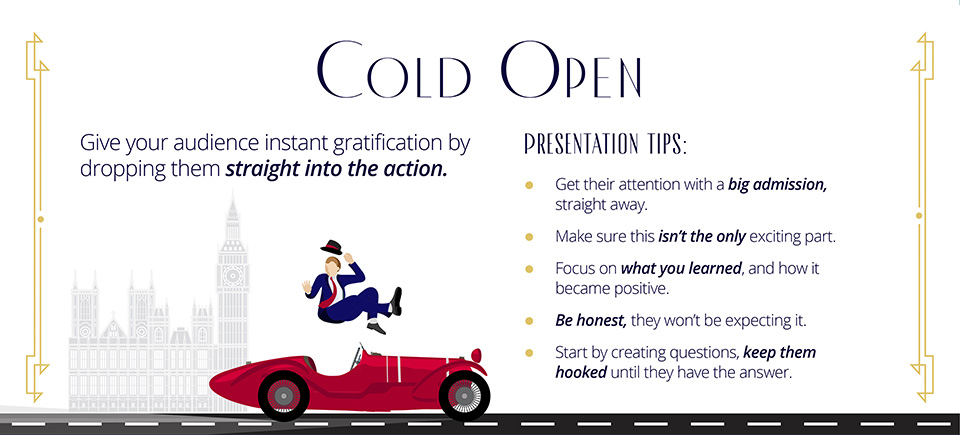 cold open movie presentation tip