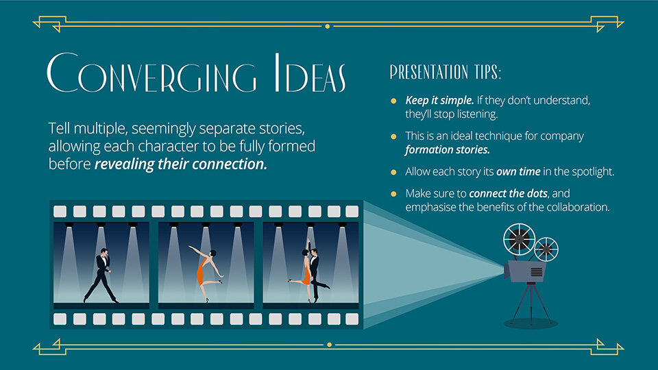 converging ideas movie presentation tip