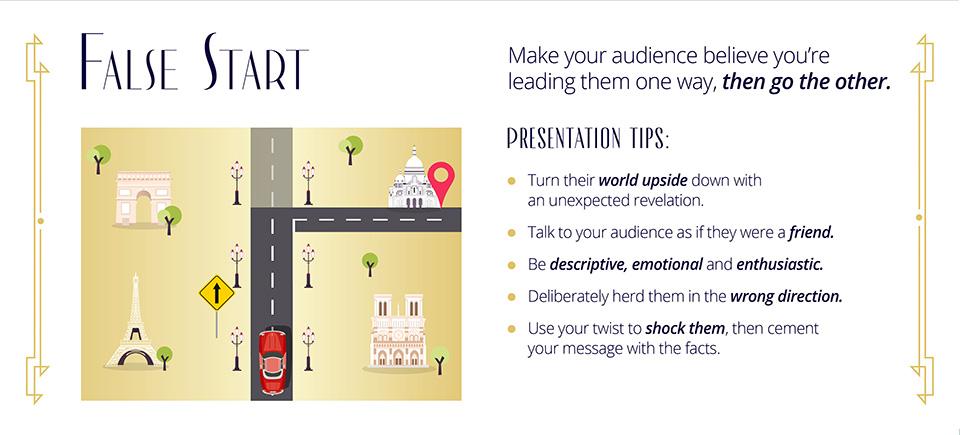 false start movie presentation tip