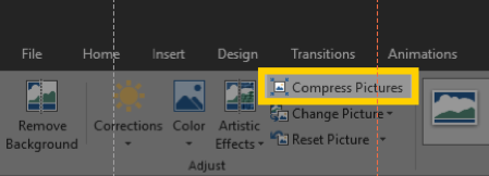compress pictures PowerPoint