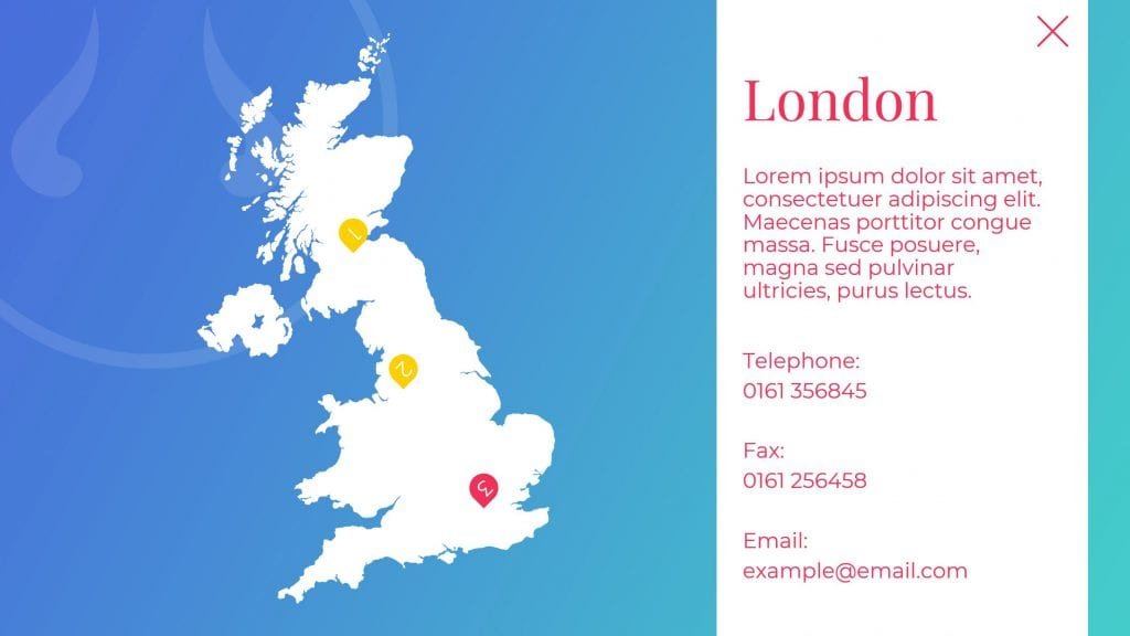 London office PowerPoint slide