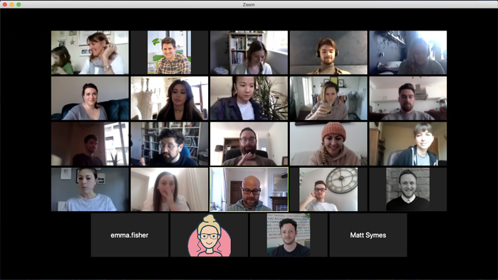 Full company meeting over Zoom