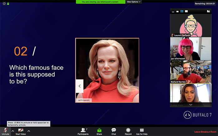 Famous face PPT pub quiz question