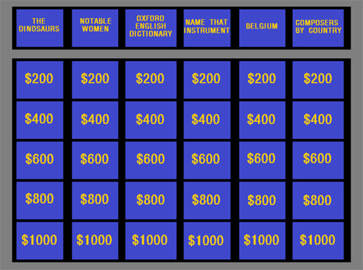 Jeopardy PowerPoint party