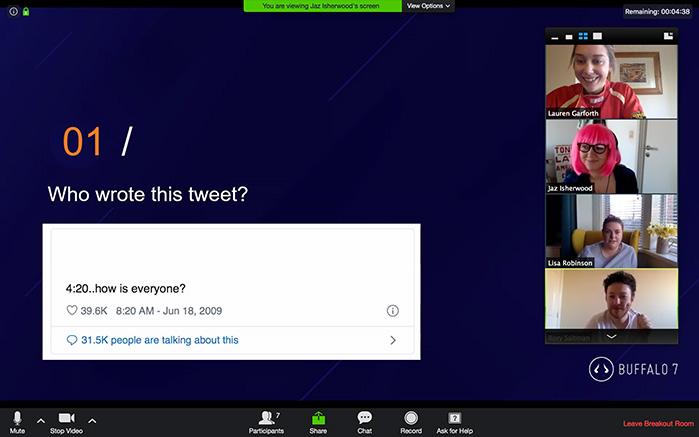 Twitter pub quiz question