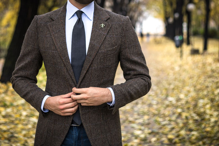 trendy suited man