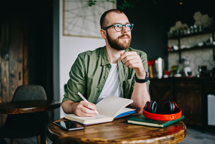 Man planning and preparing