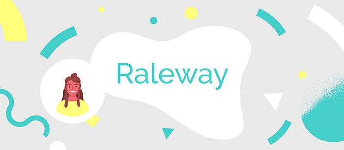 Raleway font
