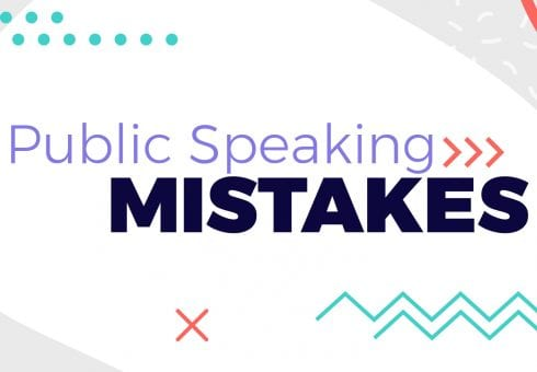 Turn public speaking mistakes into customer connections