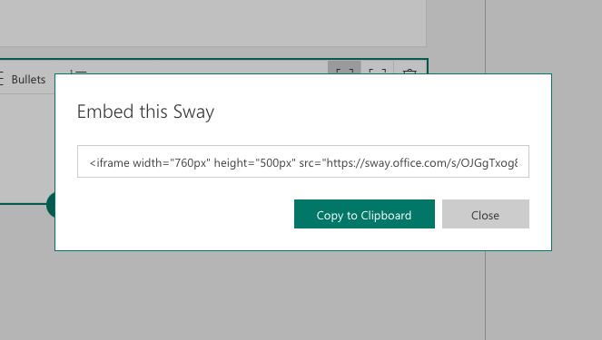 embed Sway with iframe