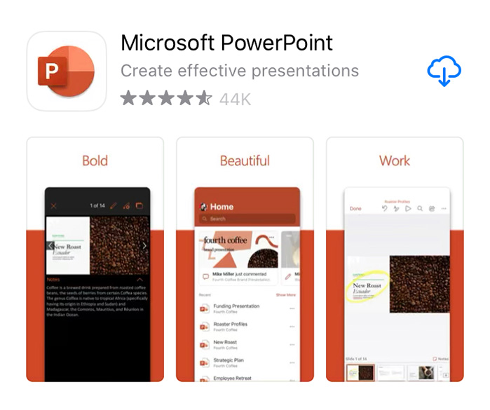 PowerPoint on app store