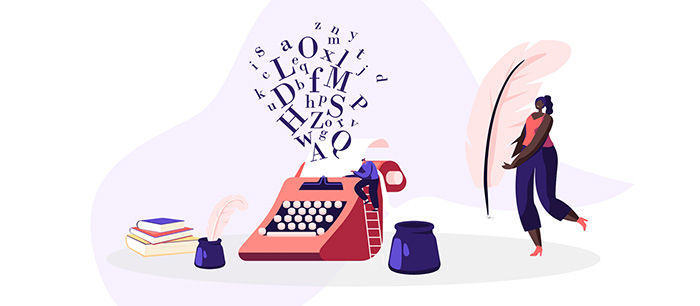 writing and typing a presentation script