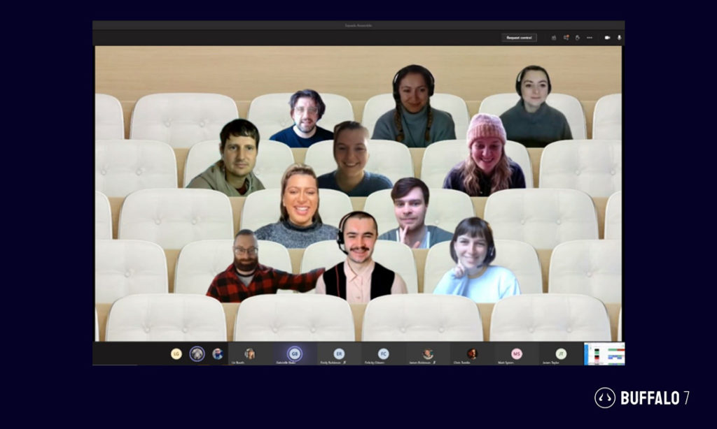 Microsoft Teams view when sharing PPT