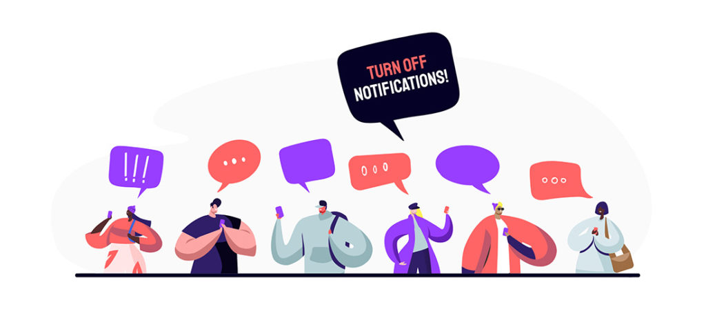 turn off notifications when presenting on Teams