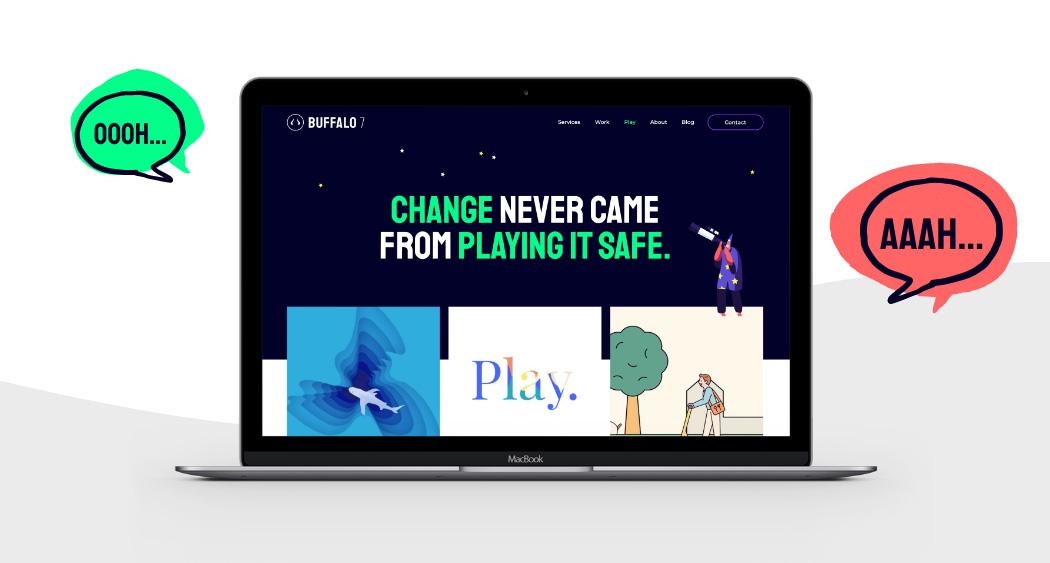 Screenshot of Play page