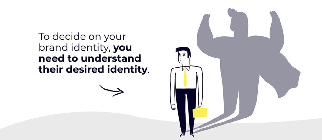 To decide on your brand identity, you need to understand their desired identity.